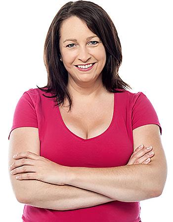 Novasilk woman smiling