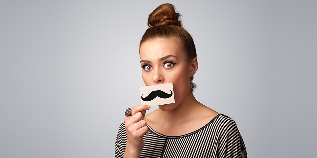 an illustration of a woman who wants to have permanent facial hair removal