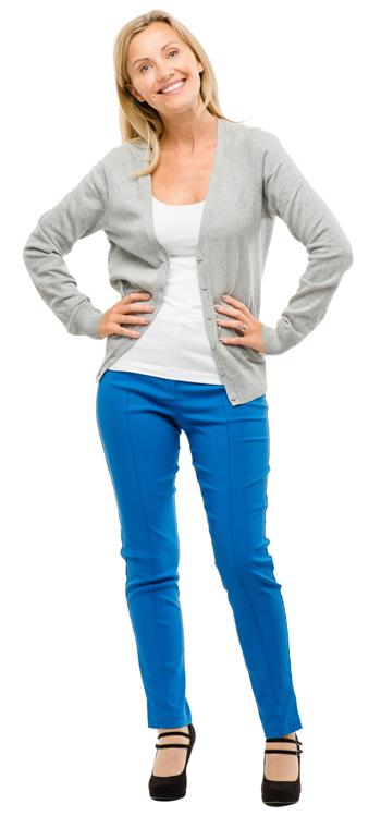 Urogynecologist: pelvic pain - woman naturally standing